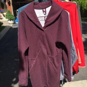 Burgundy Lululemon Wrap Jacket size 8